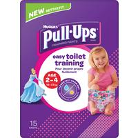Huggies Pull Ups Day Time Potty Training Pants Girls 2-4 Years 15 Pants
