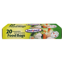 Sealapack Food Bags Large (25.4cm x 30cm) 20s