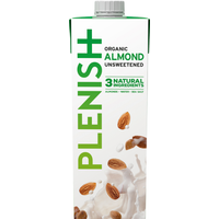 Plenish Organic Almond Dairy Free Milk Alternative 1L
