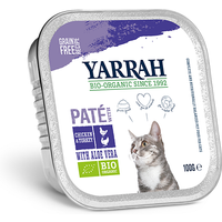 Yarrah Chicken & Turkey Organic Cat Food Pate With Aloe Vera 100g