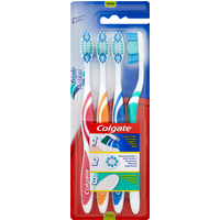 Colgate Triple Action Medium Toothbrush 4 Pack