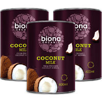 Biona Organic Coconut Milk 400ml [3 tins]