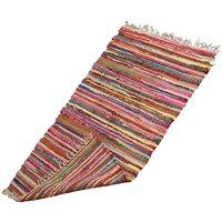 Upcycled Rainbow Rag Rug Bright