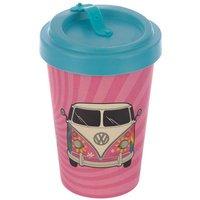 Bamboo Reusable Screw Top Travel Mug-Volkswagen VW T1 Camper Bus