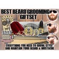 Premium Beard & Mustache Grooming Kit Lemongrass