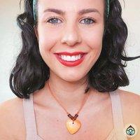 Stone Heart on Cord Necklace-Orange