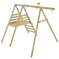 TP Knightswood Wooden Single and Deck Swing Frame-FSCandreg