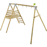 TP Knightswood Wooden Double and Deck Swing Frame-FSCandreg