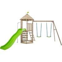 TP Castlewood Beeston Wooden Swing Set and Slide-FSCandreg
