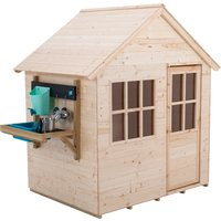 TP Hideaway Wooden Playhouse with Mud Kitchen- FSCandreg;