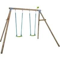 TP Knightswood Double Wooden Swing Set - FSCandreg