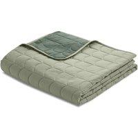 Flexa ROOM Steppdecke Tagesdecke (230x130 cm) aus 100% Baumwolle in grün