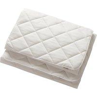 Leander Matratzenauflage für Side By Side Beistellbett (40x80) aus Bio-Baumwolle