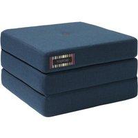 """byKlipKlap faltbare Matratze & Sessel """"KK 3 Fold Single"""" (65x65cm) - Dark blue / black"""
