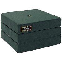 "byKlipKlap faltbare Matratze & Sessel ""KK 3 Fold Single"" (65x65cm) - Deep green / light green"