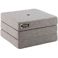"""byKlipKlap faltbare Matratze & Sessel """"KK 3 Fold Single"""" (65x65cm) - Multi grey / grey"""