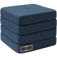 """byKlipKlap faltbare Matratze & Sessel """"KK 4 Fold"""" (50x50cm) - Dark blue / black"""