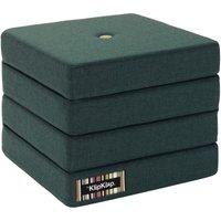 "byKlipKlap faltbare Matratze & Sessel ""KK 4 Fold"" (50x50cm) - Deep green / light green"