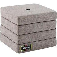 """byKlipKlap faltbare Matratze & Sessel """"KK 4 Fold"""" (50x50cm) - Multi grey / grey"""