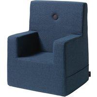 "byKlipKlap Kindersessel ""KK Kids Chair XL"" (2-6 Jahre) - Dark blue / black"