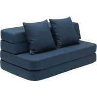 "byKlipKlap multifunktionales Sofa ""KK 3 Fold Sofa XL"" (140cm) - Dark blue / black"