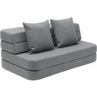 "byKlipKlap multifunktionales Sofa ""KK 3 Fold Sofa"" (120cm) - Blue grey / grey"