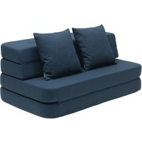 "byKlipKlap multifunktionales Sofa ""KK 3 Fold Sofa"" (120cm) - Dark blue / black"