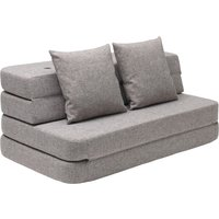 "byKlipKlap multifunktionales Sofa ""KK 3 Fold Sofa"" (120cm) - Multi grey / grey"