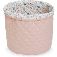 """CamCam Aufbewahrungskorb """"Blossom Pink"""" (30x33 cm) aus Bio-Baumwolle"""