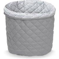 """CamCam Aufbewahrungskorb """"Grey"""" (30x33 cm) aus Bio-Baumwolle"""