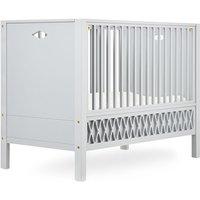 """CamCam Babybett """"Harlequin"""" (60x120) mit geschlossenen Enden höhenverstellbar in grau"""