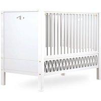 """CamCam Babybett """"Harlequin"""" (60x120) mit geschlossenen Enden höhenverstellbar in weiß"""