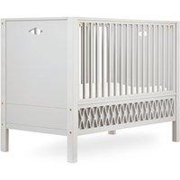 """CamCam Babybett """"Harlequin"""" (60x120) mit geschlossenen Enden höhenverstellbar in beige"""
