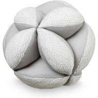 """CamCam Spielzeug Ball """"Welle"""" mit Rassel aus Bio-Baumwolle (15 cm) in grau"""