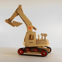 FAGUS Bagger Holzfahrzeug | Modell: 10.71 (ab 3 Jahren)