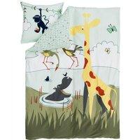 """Flexa Kinder-Bettwäsche """"Safari"""" (200x140cm / 80x80cm) aus 100% Baumwolle"""