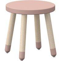 """Flexa PLAY Kinderhocker """"Light Rose"""" mit Beinen aus Eschenholz (30cm)"""