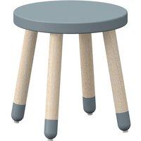 """Flexa PLAY Kinderhocker """"Light Blue"""" mit Beinen aus Eschenholz (30cm)"""