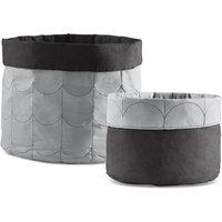 Flexa ROOM Aufbewahrungskorb (2er Set) aus Baumwolle in grau
