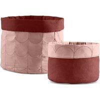 Flexa ROOM Aufbewahrungskorb (2er Set) aus Baumwolle in rosa