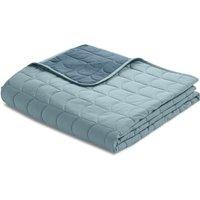 Flexa ROOM Steppdecke Tagesdecke (230x200 cm) aus 100% Baumwolle in blau