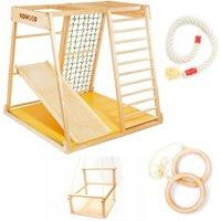 """Kidwood Kinder-Klettergerüst """"Segel JUNIOR Set"""" aus Holz (6-teilig) für Kinderzimmer"""
