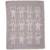 """Klippan Babydecke """"Hug grey"""" (70x90 cm) aus organischer Baumwolle"""