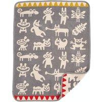 """Klippan Babydecke """"Monsters grey"""" (70x90 cm) aus organischer Baumwolle"""