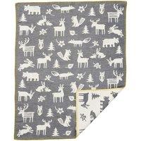 """Klippan Babydecke """"Forest grey"""" (70x90 cm) aus organischer Baumwolle"""