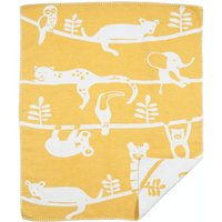 """Klippan Babydecke """"Siesta yellow"""" (70x90 cm) aus organischer Baumwolle"""