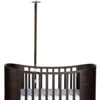 Leander Himmelgestell für Classic Babybett aus Buchenholz (110x41,5 cm) in Walnuss-Optik