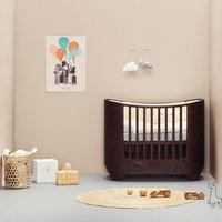 Leander Classic Babybett (von 0-7 Jahre) aus Holz inkl. Junior-Umbauset in Walnuss