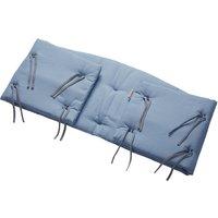 Leander Nestchen für Classic Babybett (158cm) aus Bio-Baumwolle, Dusty Blue