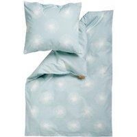 """Leander Baby-Bettwäsche aus Baumwolle """"Flora"""" (70x100 / 40x45) in blau / Misty Blue"""